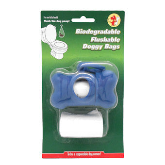 Biodegradable poop bag holder