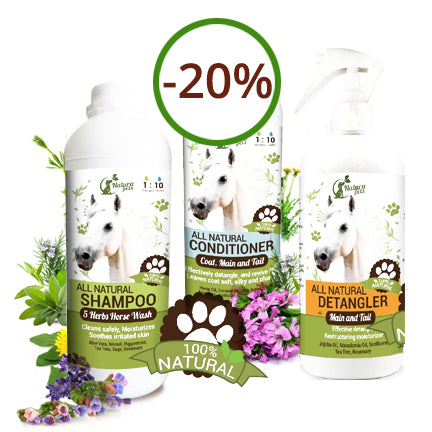 Super Savings! Save 20% on our Horse Shampoo, Detangler & Conditioner Combo!