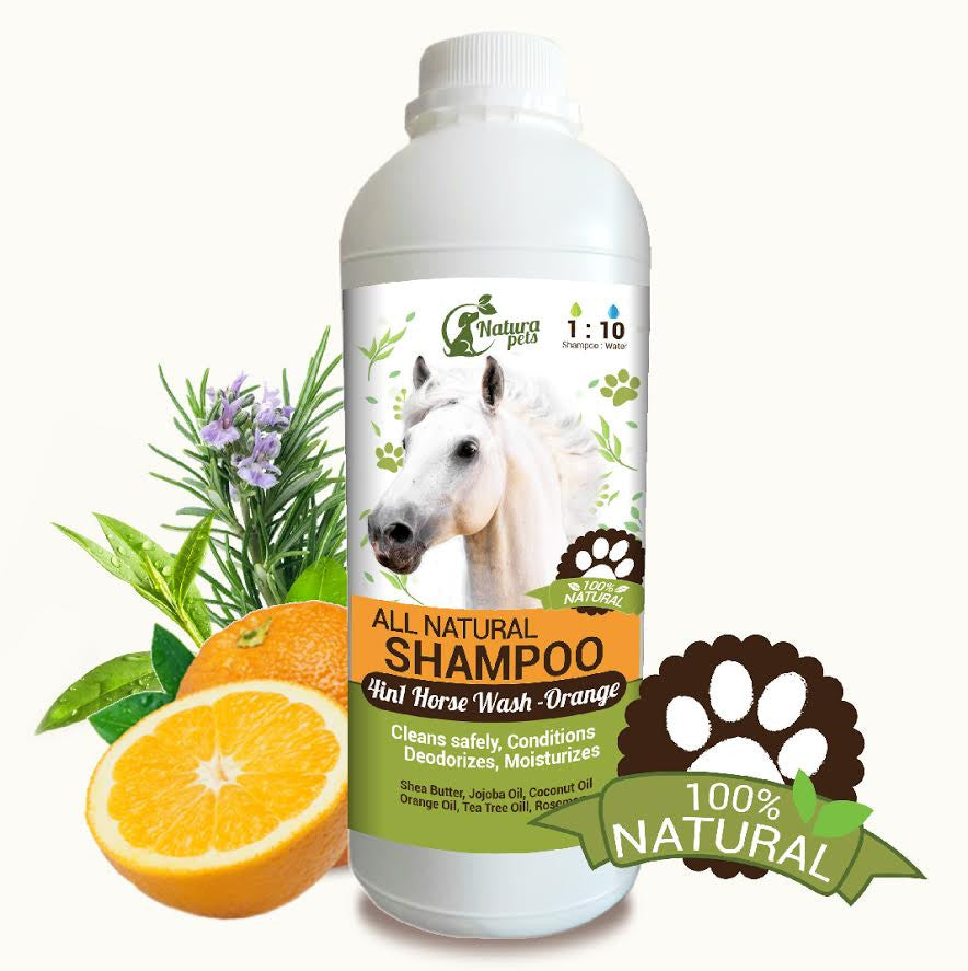 Natura Pet 4-in-1 Natural Orange Horse Shampoo for Beautiful Horses!