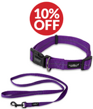 Dog Accessory Combo Pack: Purple Collar + Purple Leash (SAVE 10%)