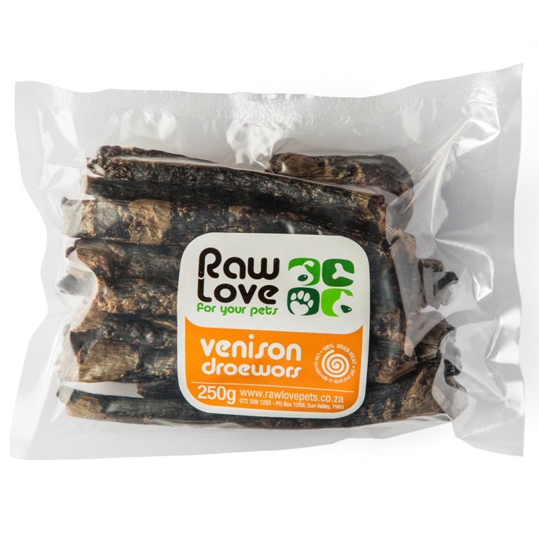 Raw Love Organic Venison Droewors Treat (Dogs & Cats)