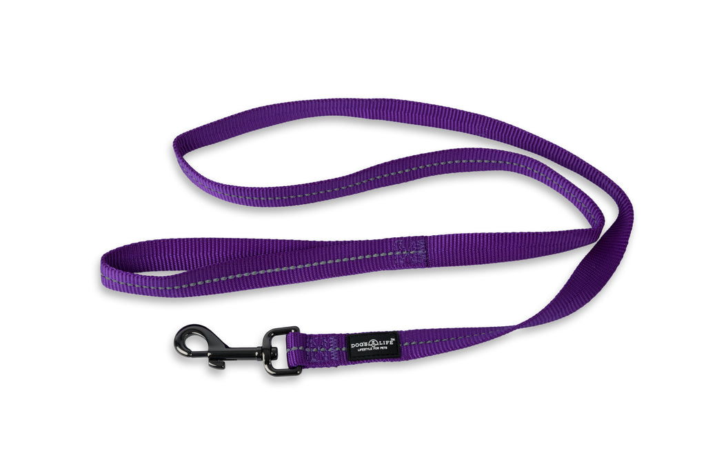 Dog's Life Leash (Purple) -Reflective, super soft and strong!