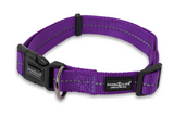 Dog's Life purple reflective webbing dog collar