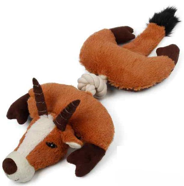 Dog Days Safari Series Blesbok Squweeky Dog Toy