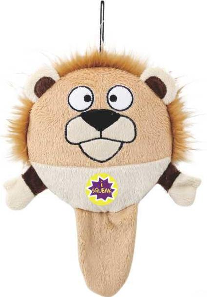 Dog Days Safari Series Lion Dog Toy, dog toy that makes noise, dog toy for small dogs, chew dog toy, squeeky dog toys