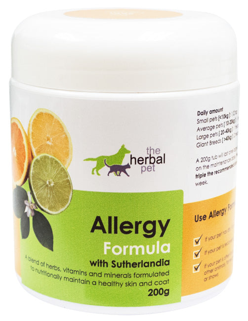 Herbal Pet Allergy Formula - Formulated to nutritionally maintain a healthy skin and coat!