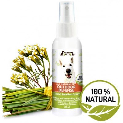 Natura Pets Outdoor Defense Insect Repellent - Natural Bug Defense!