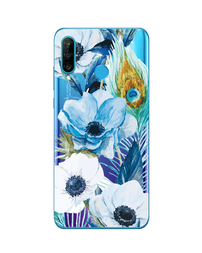 Hey Casey! Blue Floral Peacock Phone case covers for iPhone, Samsung, Huawei