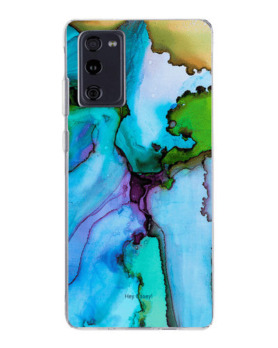 Hey Casey! Blue Ink Marble Phone case covers for iPhone, Samsung, Huawei