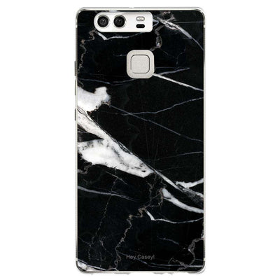 Hey Casey! Black Mock Marble Phone case covers for iPhone Samsung LG Huawei