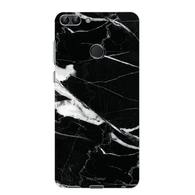 Hey Casey! Black Mock Marble Phone case covers for iPhone, Samsung, LG, Huawei