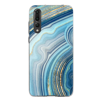 Hey Casey! Blue Agate Gloss Phone case covers for iPhone, Samsung, Huawei