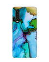 Blue Ink Marble Phone Case