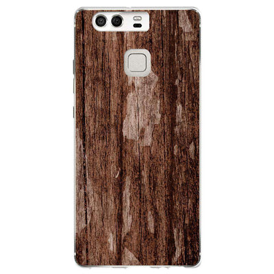 Hey Casey! Dark Brown Mock Wood Phone case covers for iPhone, Samsung, Huawei