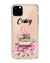 Hey Casey! Fashion Books with Flowers Phone case covers for iPhone, Samsung, Huawei