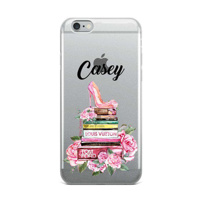 Hey Casey! Fashion Books with Flowers Phone case covers for iPhone, Samsung, LG, Huawei