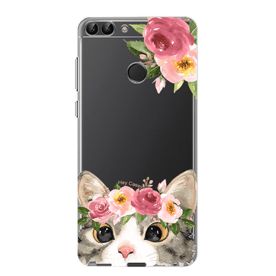 Hey Casey! Floral Kitty Phone case covers for iPhone, Samsung, LG, Huawei