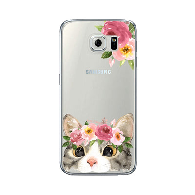 Phone Cases - Floral Kitty Phone Case