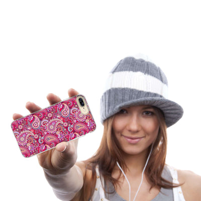 Hey Casey! Pink Paisley Phone case covers for iPhone, Samsung, LG, Huawei