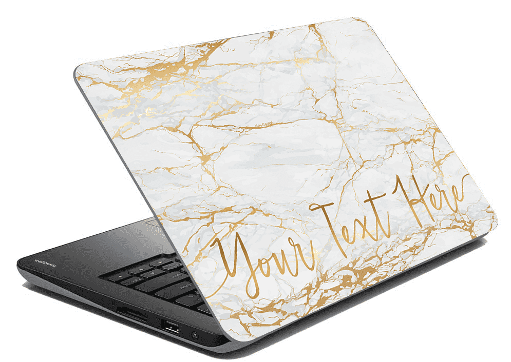 Gold Marble Laptop Skin
