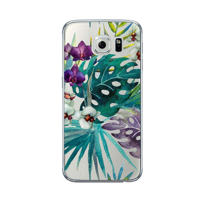Hey Casey! Palm and Orchid Watercolor Phone case covers for iPhone, Samsung, LG, Huawei