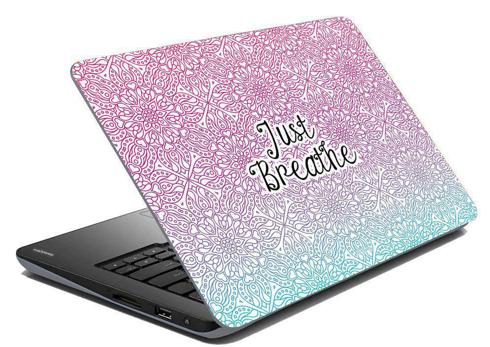 Just Breathe Laptop Skin
