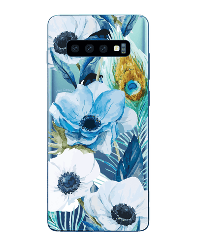 Hey Casey! Blue Floral Peacock Phone case covers for iPhone, Samsung, LG, Huawei