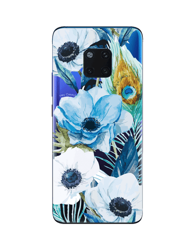 Hey Casey! Blue Floral Peocock Phone case covers for iPhone, Samsung, LG, Huawei
