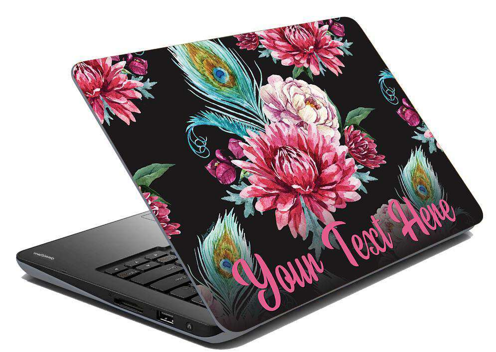 Peacock Puff Laptop Skin