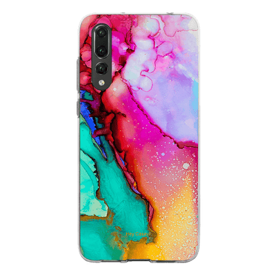 Hey Casey! Pink Ink Marble Phone case covers for iPhone, Samsung, LG, Huawei