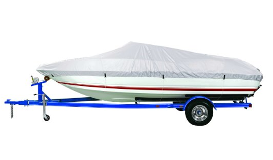 Goodsmann 300 Denier boat cover, Silvery gray, water resistant, weather protection, trailerable, Silver Poly 1500, different size - Venus Manufacture