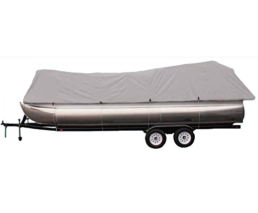 Goodsmann boat cover, Grey 300d Pontoon, rubber boats, Silvery gray, water resistant, weather protection, trailerable, different size - Venus Manufacture