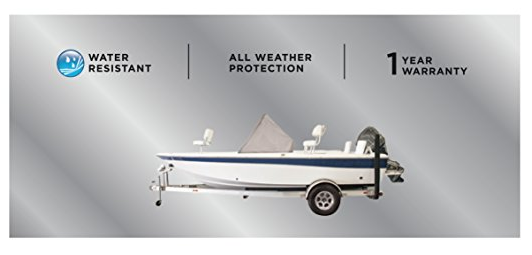 Goodsmann 600 Denier Center Console Accessory boat cover, Silvery gray, water resistant, weather protection, trailerable 9921-0162-31 - Venus Manufacture