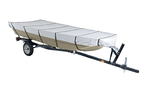 Goodsmann Jon Boat Covers, Silvery gray, water resistant, weather protection, trailerable, Silver Poly 1000, different size - Venus Manufacture