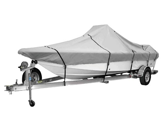 Goodsmann 600 Denier boat cover, Silvery gray, water resistant, weather protection, trailerable, Silver Poly, Center Console Covers, different size - Venus Manufacture