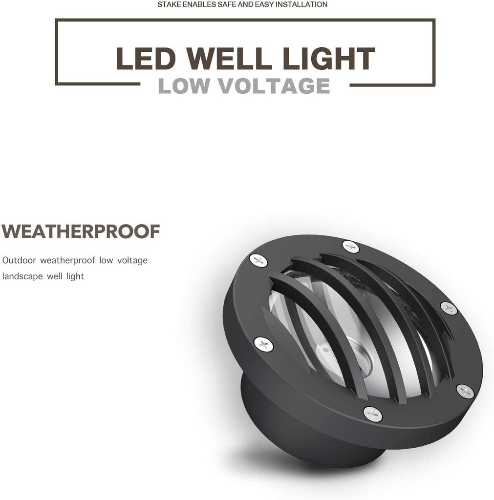 Malibu 4W LED Well Light Low Voltage Landscape Lighting