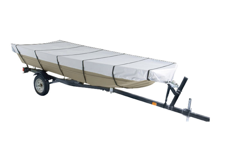 "Goodsmann Jon Boat Covers ,Silvery gray ,water resistant,weather protection,trailerable,9921-0152-23( C, 16' L, 75""W ) - Venus Manufacture"