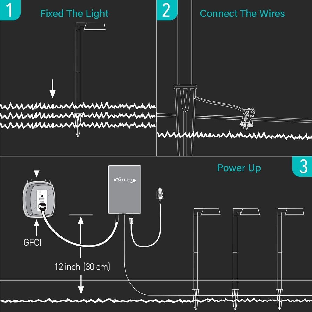 Malibu Lighting 8409210101 Malibu Landscape Lighting, 0.6W Low Voltage Equinox LED Path Light Charcoal Brown by Malibu - Venus Manufacture