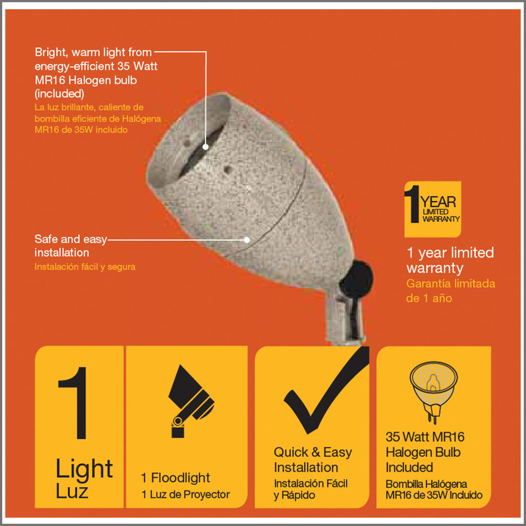 Malibu 35 Watt Floodlight Low Voltage Landscape Lighting 8303-9606-01 - Venus Manufacture
