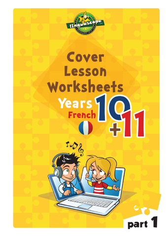 Cover Lesson Worksheets - Years 10 & 11 French, Part 1 (Downloadable eBook)