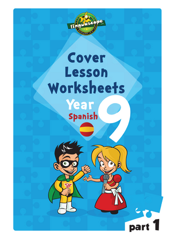 Cover Lesson Worksheets - Year 9 Spanish, Part 1 (Downloadable eBook)