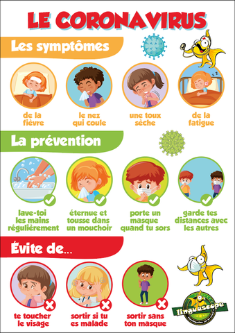 """Le Coronavirus"" poster (downloadable product)"