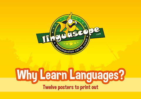 "Pack of 12 printable posters on ""Why Learn Languages?"" (downloadable product)"