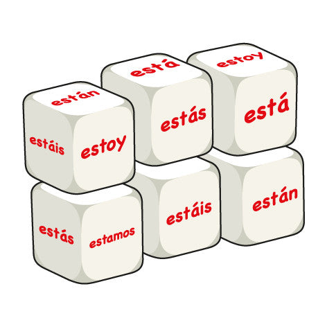 Spanish Estar (pack of 6 dice)