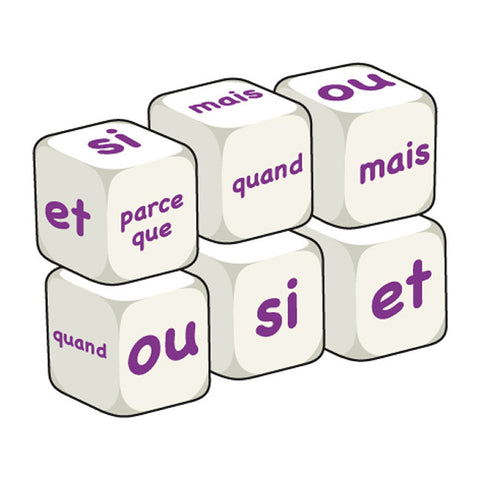 French Conjunctions (pack of 6 dice)