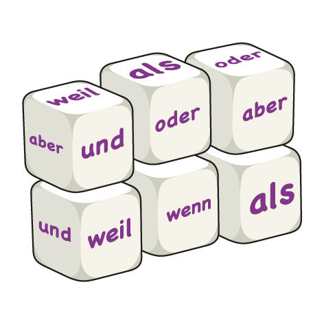 German Conjunctions (pack of 6 dice)