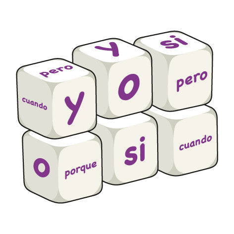 Spanish Conjunctions (pack of 6 dice)