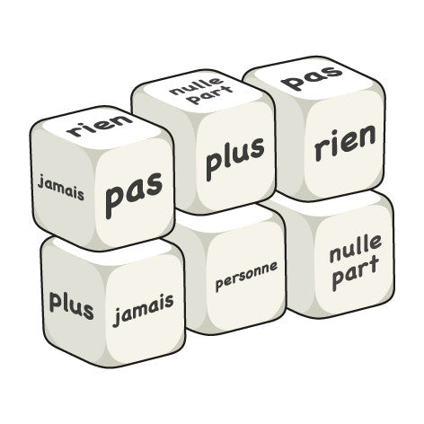 French Negative words (pack of 6 dice)