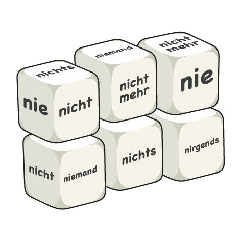 German Negative words (pack of 6 dice)