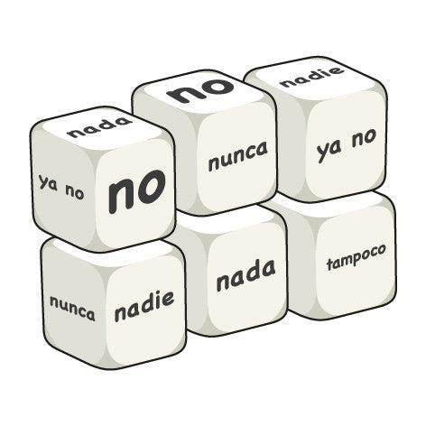 Spanish Negative words (pack of 6 dice)